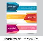 set of modern colorful banner... | Shutterstock .eps vector #745942624