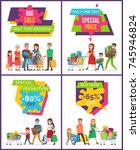 big sale only this weekend  set ... | Shutterstock .eps vector #745946824