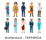policeman and lifesaver ...   Shutterstock .eps vector #745948426