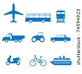 vector illustration of icons on ... | Shutterstock .eps vector #74594923
