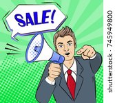 pop of business man take... | Shutterstock .eps vector #745949800