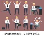 active businessman at work... | Shutterstock .eps vector #745951918