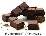 chocolate background   a... | Shutterstock . vector #745954258