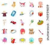 sander icons set. cartoon set...   Shutterstock .eps vector #745959859