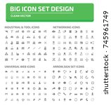 big icon set vector | Shutterstock .eps vector #745961749