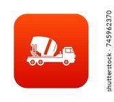 concrete mixer truck icon... | Shutterstock .eps vector #745962370