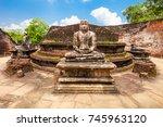 polonnaruwa vatadage is ancient ... | Shutterstock . vector #745963120