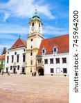 bratislava old town hall is a...   Shutterstock . vector #745964200