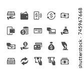 money glyph icons | Shutterstock .eps vector #745967668