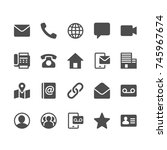 contact glyph icons | Shutterstock .eps vector #745967674