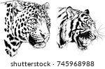 set of vector drawings on the... | Shutterstock .eps vector #745968988