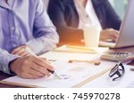 business team working with...   Shutterstock . vector #745970278