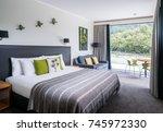 milford sound  new zealand  ...   Shutterstock . vector #745972330