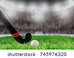 low angle view of field hockey...   Shutterstock . vector #745976320