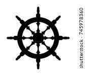 steering wheel silhouette... | Shutterstock .eps vector #745978360