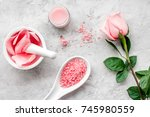 products for skincare based on... | Shutterstock . vector #745980559