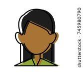 woman faceless avatar | Shutterstock .eps vector #745980790