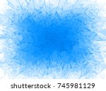 vector blue frost frame. eps8.... | Shutterstock .eps vector #745981129