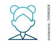 woman faceless avatar | Shutterstock .eps vector #745982818