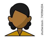 woman faceless avatar | Shutterstock .eps vector #745984204