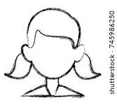 woman faceless avatar | Shutterstock .eps vector #745986250