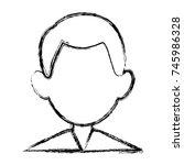 man faceless avatar | Shutterstock .eps vector #745986328