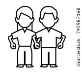 woman and man couple | Shutterstock .eps vector #745987168