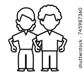 woman and man couple | Shutterstock .eps vector #745987360