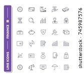 line icons set. finance pack 1.... | Shutterstock .eps vector #745987576