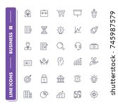 line icons set. business 1 pack....