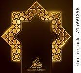 ramadan kareem greeting...   Shutterstock .eps vector #745991398