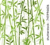 bamboo background japanese... | Shutterstock .eps vector #745996606