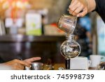 syphon classic coffee maker.   Shutterstock . vector #745998739