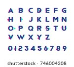 alphabet with numbers and... | Shutterstock .eps vector #746004208