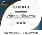 certificate template luxury and ... | Shutterstock .eps vector #746009608