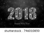 happy new year 2018. background ... | Shutterstock .eps vector #746010850