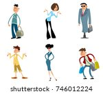 vector illustration of set of... | Shutterstock .eps vector #746012224