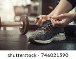 fitness and healthy concept.... | Shutterstock . vector #746021590
