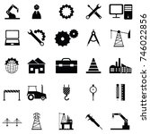 engineering icon set | Shutterstock .eps vector #746022856