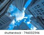 new york skyscrapers vew from... | Shutterstock . vector #746032546