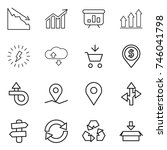 thin line icon set   crisis ...   Shutterstock .eps vector #746041798