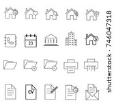 set of miscellaneous simple... | Shutterstock .eps vector #746047318