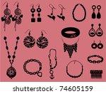 jewelry | Shutterstock .eps vector #74605159