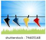 sneakers | Shutterstock .eps vector #74605168