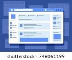 social network website... | Shutterstock .eps vector #746061199