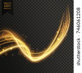swirl style golden transparent...   Shutterstock .eps vector #746061208
