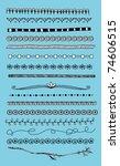 doodle dividers  borders | Shutterstock .eps vector #74606515