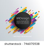abstraction in modern style... | Shutterstock .eps vector #746070538
