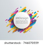 abstraction in modern style... | Shutterstock .eps vector #746070559