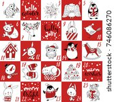 advent christmas vector... | Shutterstock .eps vector #746086270